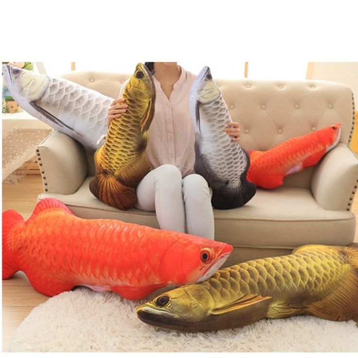 30/60cm Emulational Toys New Design Fish Shape Decorative Cushion Large Throw Pillow Home Adorn Children's Birthday Present #Affiliate