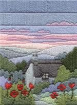 Summer Evening Long Stitch Kit by Derwentwater Designs from the range 'Seasons in Long Stitch' designed by Rose Swalwell.