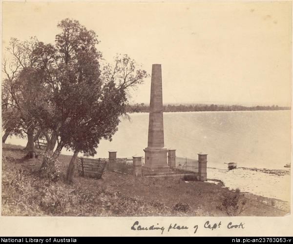 Landing place of Captain Cook.