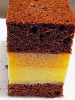 Cacao, pesca e crema al limoncello: crema al limoncello (Di Carlo), gelè alla pesca (Di Carlo), biscotto al cacao senza glutine (Montersino)