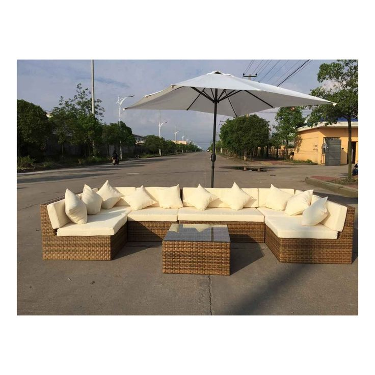 U Shaped Rattan Sofa Set Garden Furniture in Hot Sale