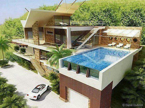 Cool Houses Pools And House On Pinterest