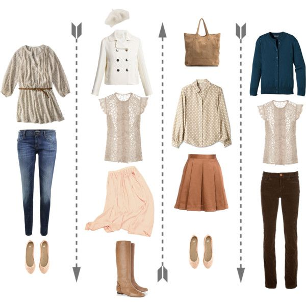 """Great guide to understand how the """"Mary Margaret's"""" look work. In a simple equation: Jeans + Cute Blouse/Shirt + Simple Sweater or Coat + Simple Shoes (Flats/Boots/Heels Shoes)."""