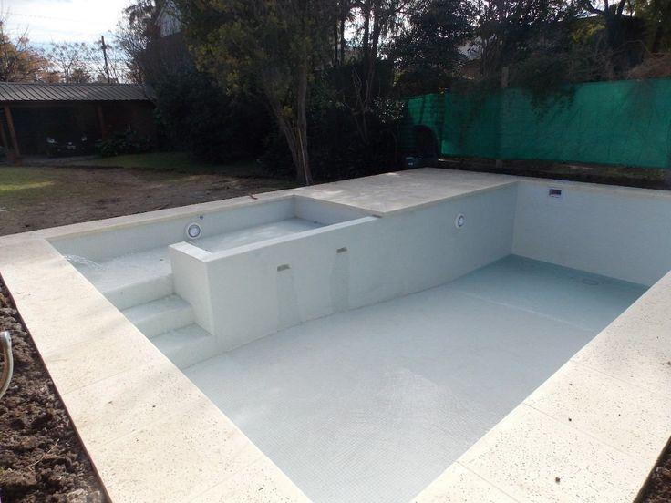 Construccion Piletas 7x3 5 En Hormigon H21 Aguada