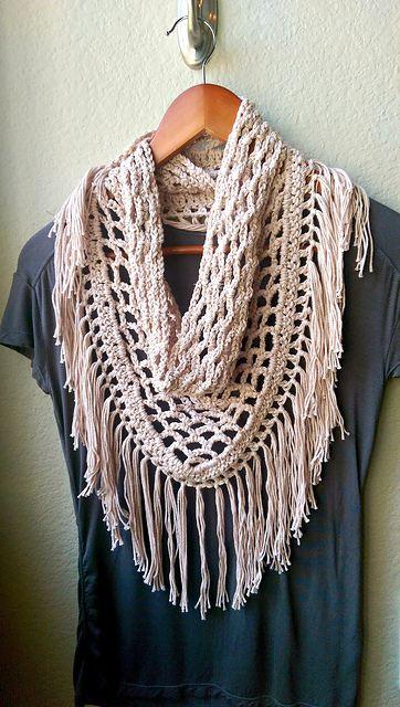 Ravelry: Crochet Fringe Scarf pattern by Michelle Greenberg