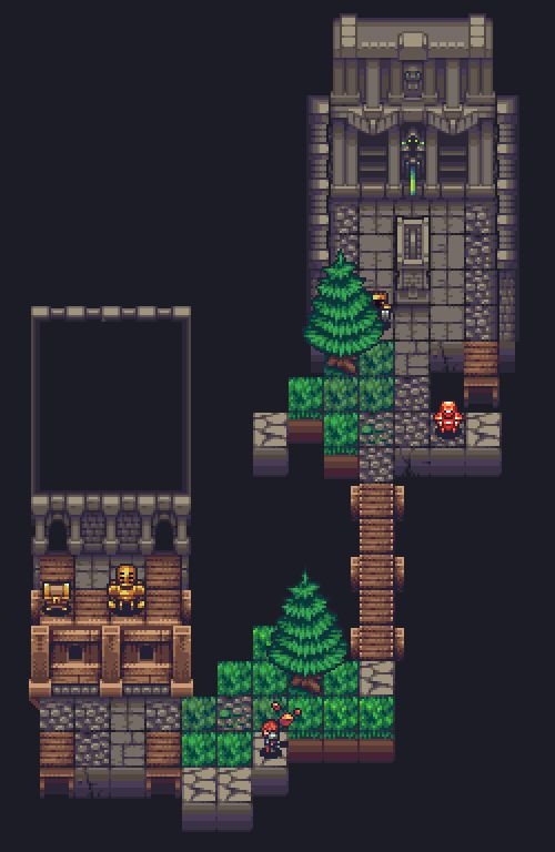 Title:Unnamed roguelike mock-up Pixel Artist:Thu