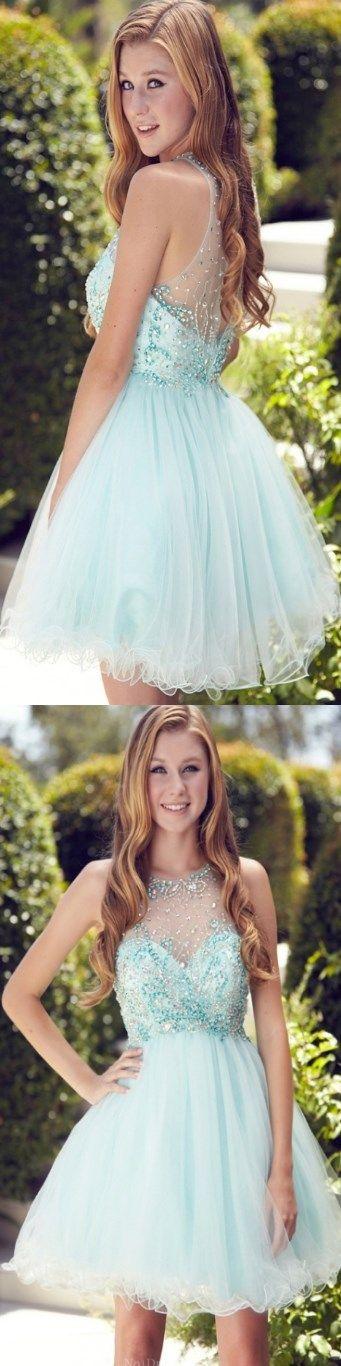 Short Prom Dress, 2017 New Prom Dress, Green Prom Dress