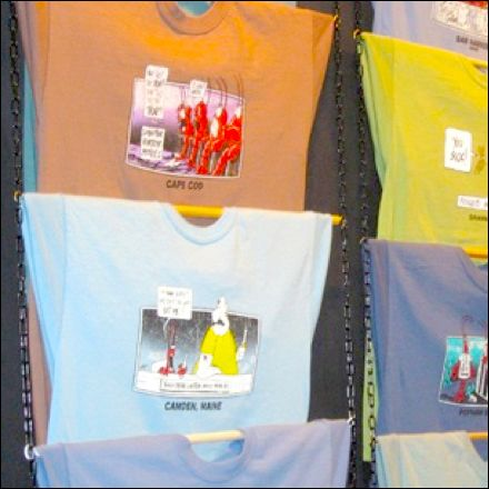 Rod and Chain T-Shirt Display Closeup