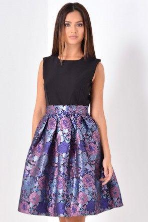 Valerie Contrast Dress in Purple