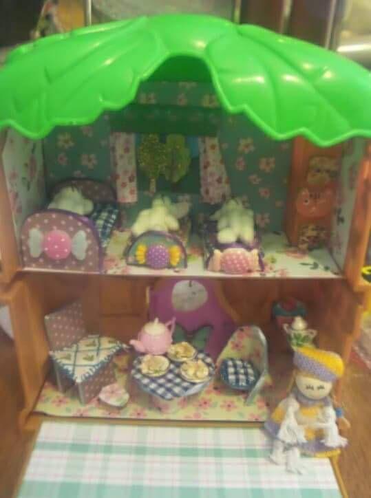 Goldilocks and the Three Bears House Miniature Scene Diorama, Dollshouse, Doll House, by TeenyTinyPocketWorld on Etsy