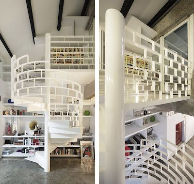 I'd like to see this spiral stair full of books | CribcandyThe Best from Household and Interior Design Blogs Around the World, Every Day