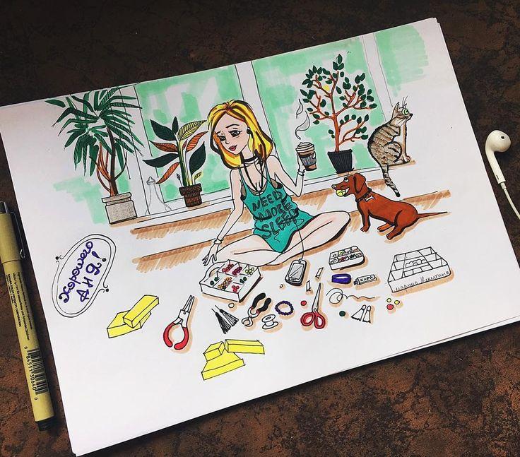 Sketch by Marina Nikitina /illustration/ marker/art/funny drawing