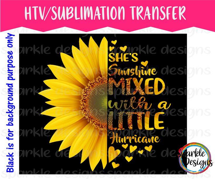 Split Sunflower Mixed With Sunshine And Hurricane Htv