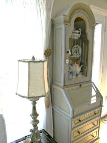 Paris Grey Chalk Paint™ ~French Desk done in PG with both dark and clear wax