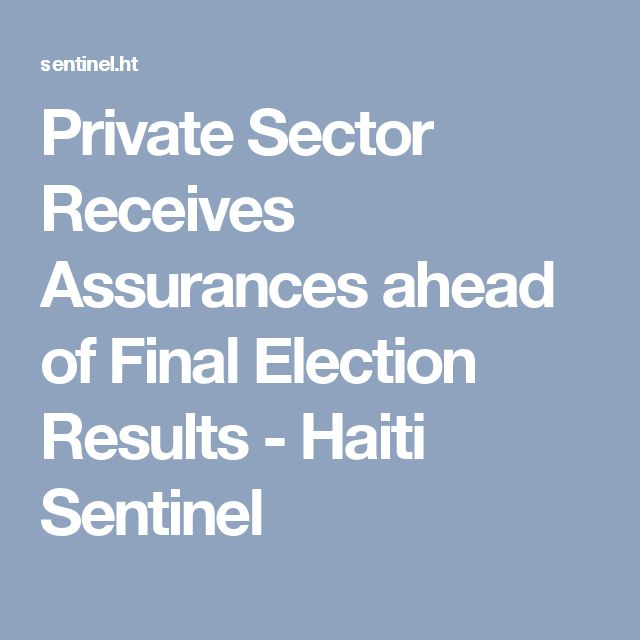 Private Sector Receives Assurances ahead of Final Election Results - Haiti Sentinel