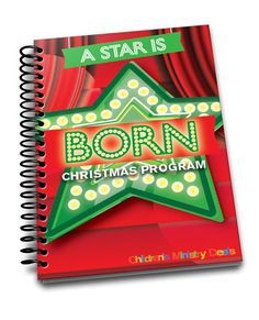 Looking for a fun, new, and different kind of Christmas Program? A Star Is Born Christmas Program is new for 2015 and perfect for Children's Ministry.