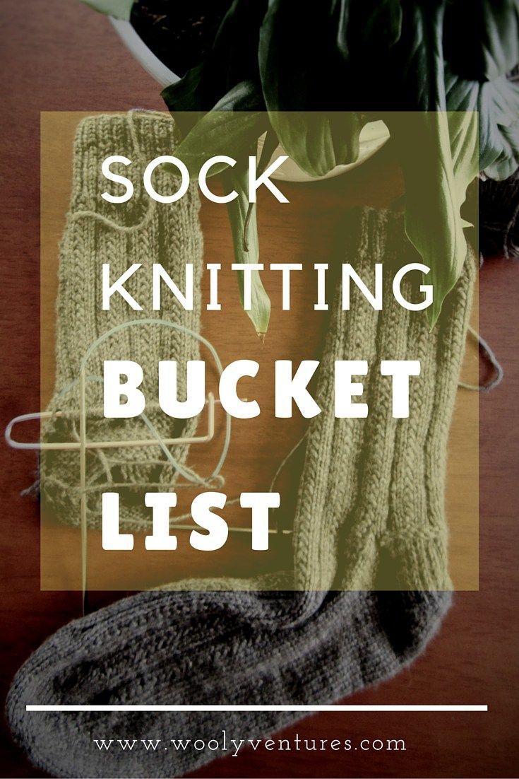 A última lista de balde de tricô de meia
