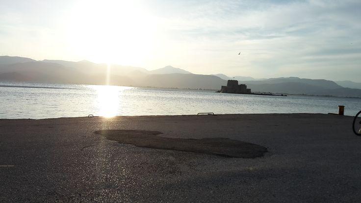Beautiful sunset! #greece #peloponnese #nafplio #sunset #travel