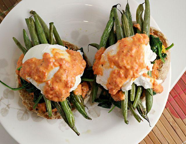Vegetable Eggs Benedict | Vegetarian For A Day! | Pinterest
