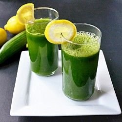 Pineapple kale cucumber drink