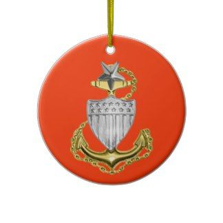 Coast Guard Senior Chief Christmas Ornament