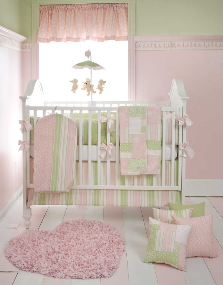 1000 ideas about pink green nursery on pinterest green nursery girl baby girl room decor and. Black Bedroom Furniture Sets. Home Design Ideas