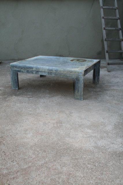 Riveted Steel Coffee Table.