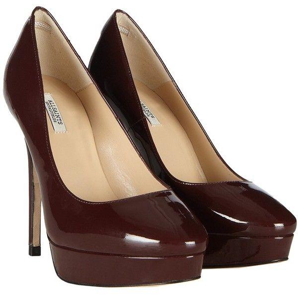 Cigarette 125 Heel ($135) ❤ liked on Polyvore featuring shoes, pumps, heels, damson, allsaints, heels & pumps, high heel pumps, high heel shoes and leather platform pumps