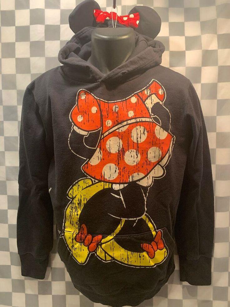 MINNIE MOUSE Full Body Disney Ears Hoodie Jacket Size XL