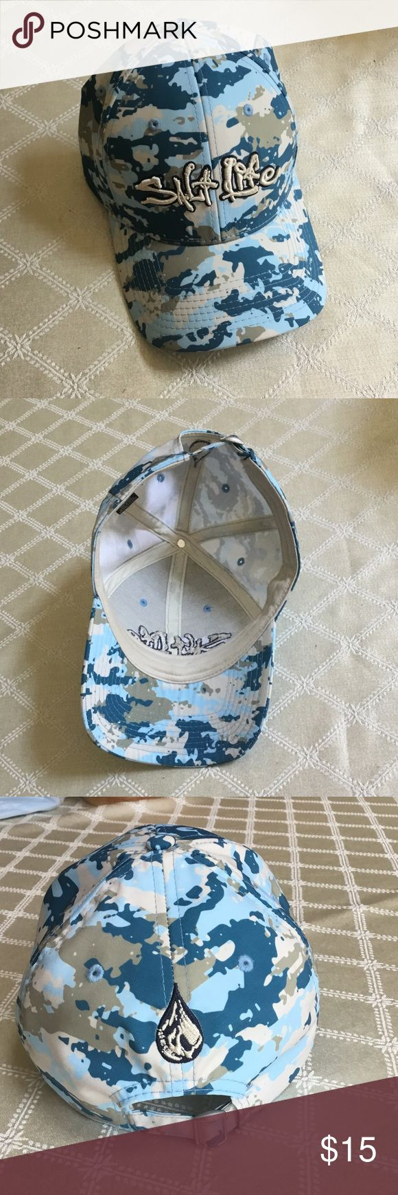 Awesome Salt life adjustable hat, his or hers Adjustable Salt Life hat with awesome camouflage colors of blues and tans Salt life Accessories Hats