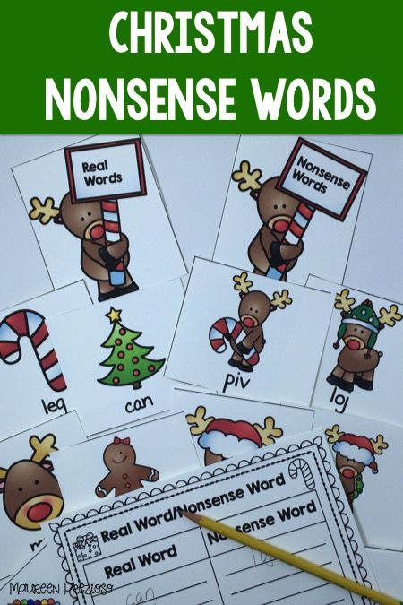 Christmas Nonsense Word Activity your students will love playing in their RTI, Guided Reading, or Literacy Centers