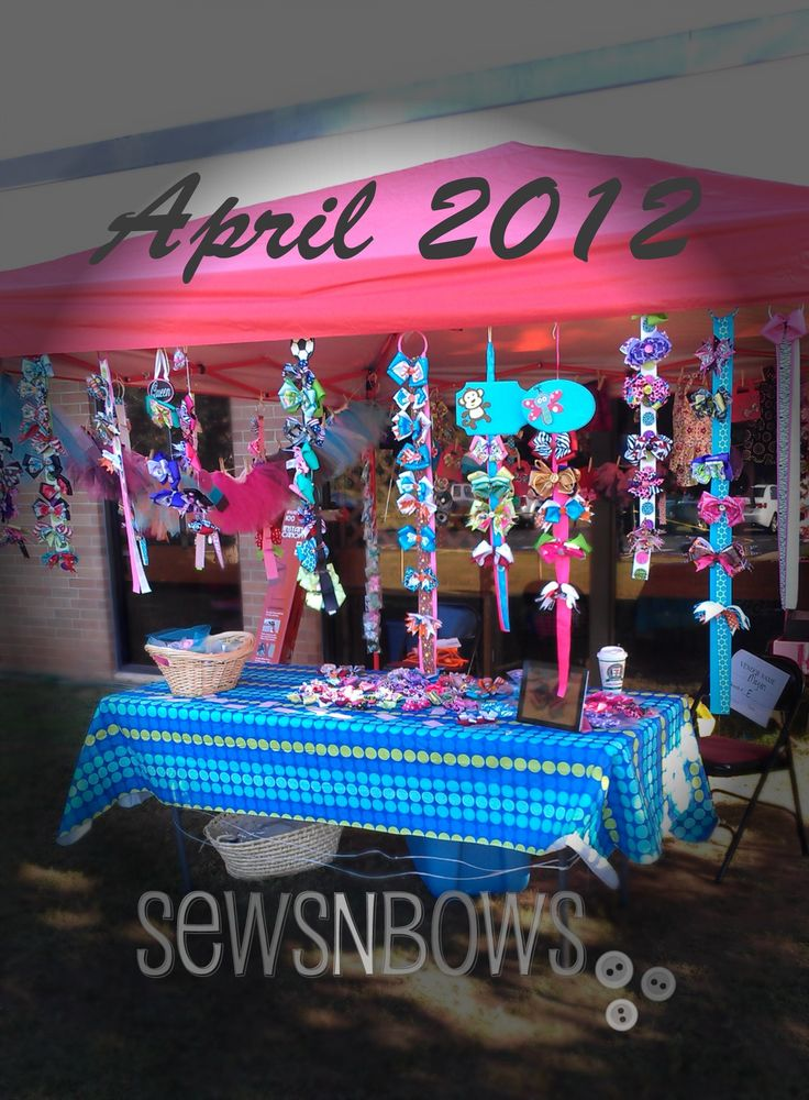 Craft Show Display for hairbows