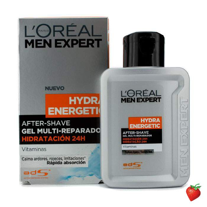 L'Oreal Men Expert Hydra Energetic After Shave Multi-Repairing 24H Hydration Gel 100ml/3.3oz #LOreal #MensSkincare #Men #AfterShave #StrawberryNET #FREEShipping #Hotbuy #Discount