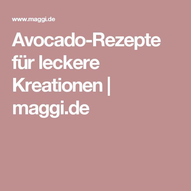 Avocado-Rezepte für leckere Kreationen | maggi.de