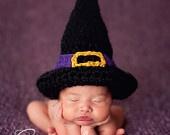 Hocus Pocus Witch Hat Newborn Photography Prop Halloween Costume