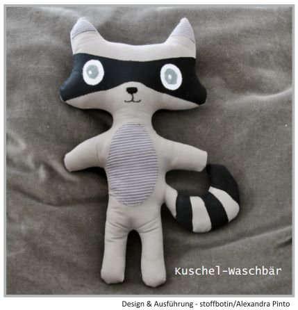 tutorial for raccoon plushie