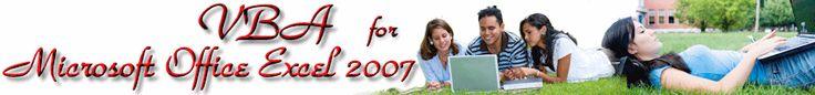 VBA for Microsoft Office Excel 2007