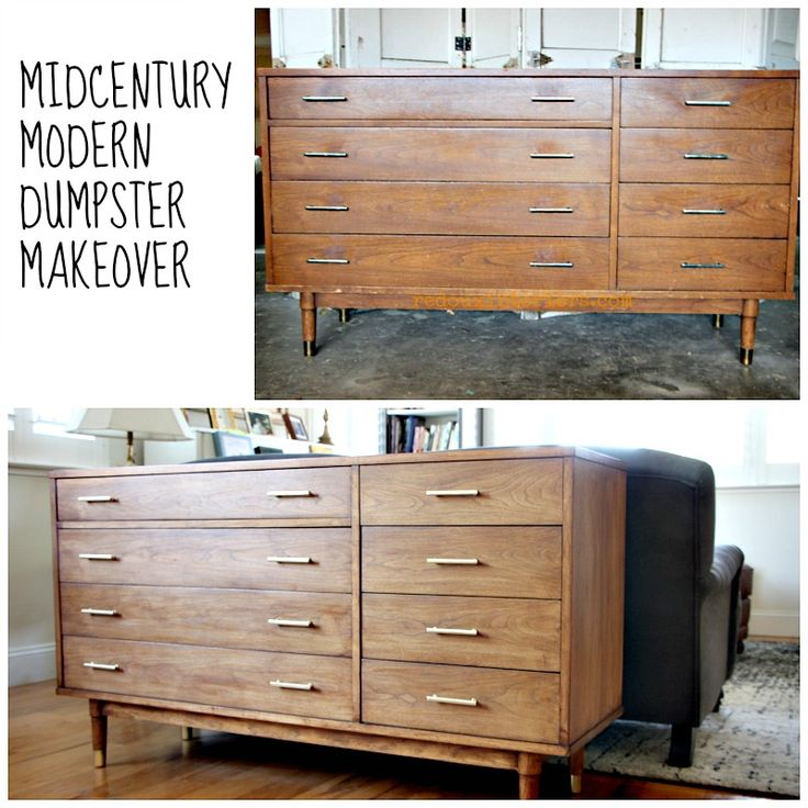 Refinish a MidCentury Modern Buffet using CeCe Caldwell's all natural Stain + Finish.  Video tutorial included in link FACEBOOK: REDOUX REDOUXINTERIORS.COM #midcenturymodern #refinishfurniture #cececaldwells