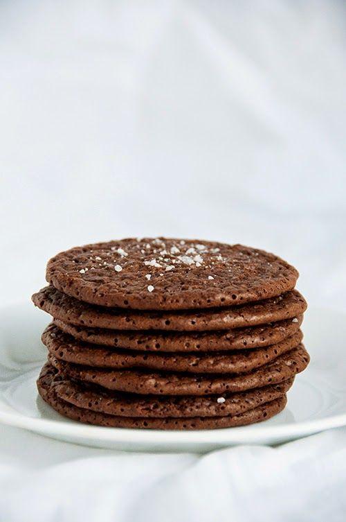 salted espresso cookies