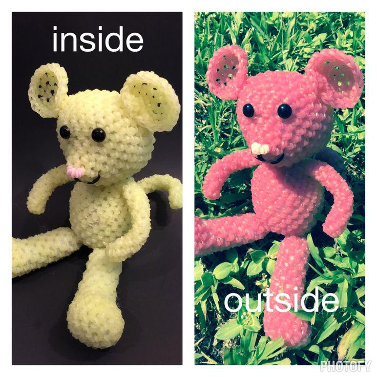 Rainbow Loom Amigurumi Mouse : 17 Best images about loom charms/flowers on Pinterest ...