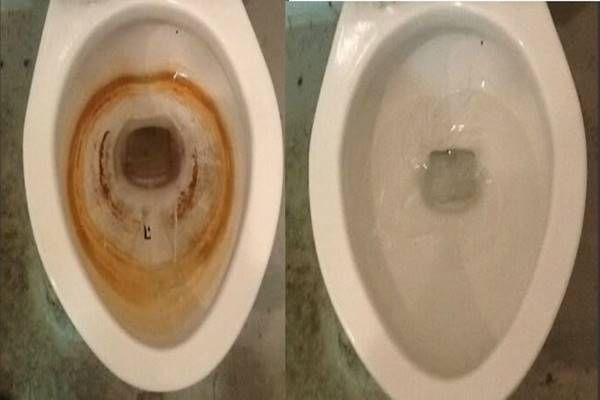 vécé takarítása