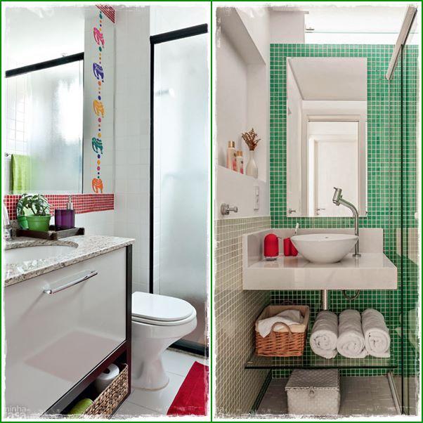 Banheiro minúsculo que eu adorei!