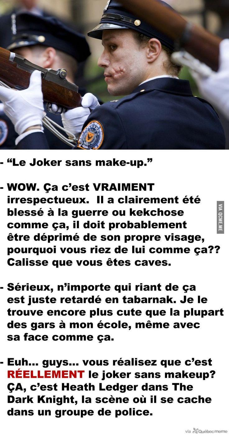 Le Joker sans make-up