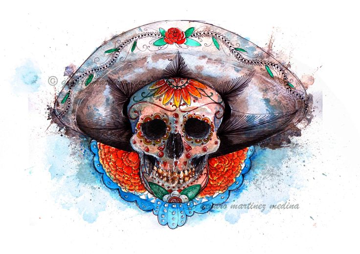 La Calavera Mexicana By Genaro Martinez Medina  www.genaromartinez.co.uk