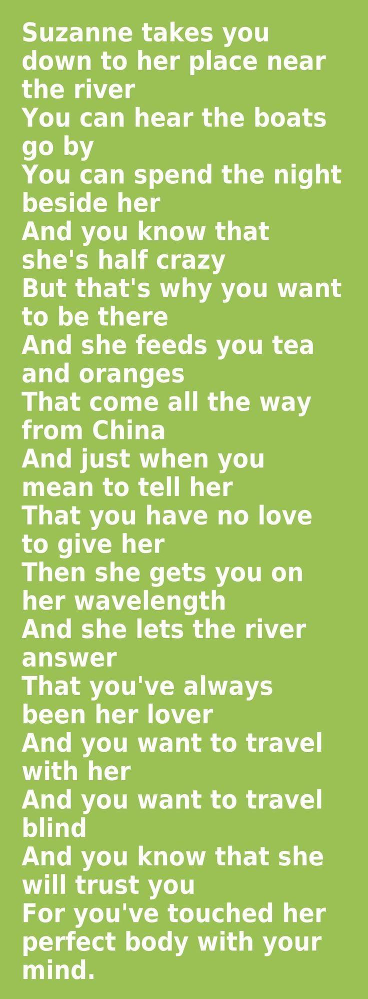 Suzanne, Leonard Cohen