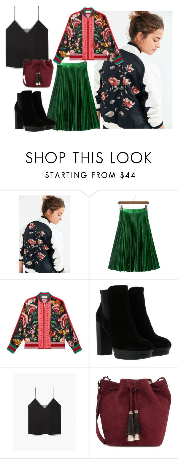 """46"" by alena-mendesh on Polyvore featuring мода, Silence + Noise, WithChic, Gucci, Hogan, The Kooples и Loeffler Randall"