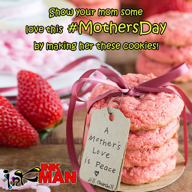 Show your mom some love this #MothersDay by making her these cookies! Click here for recipe http://bit.ly/1SLZyjD