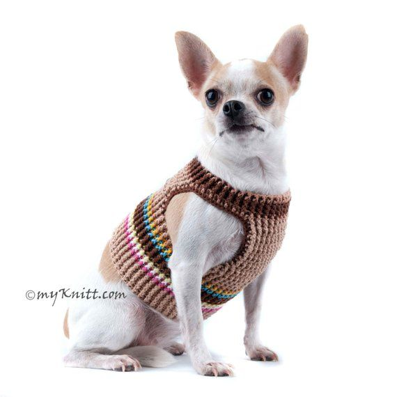 Dog Harness Brown Rustic Cotton Dog Harness No Pull Puppy Collar