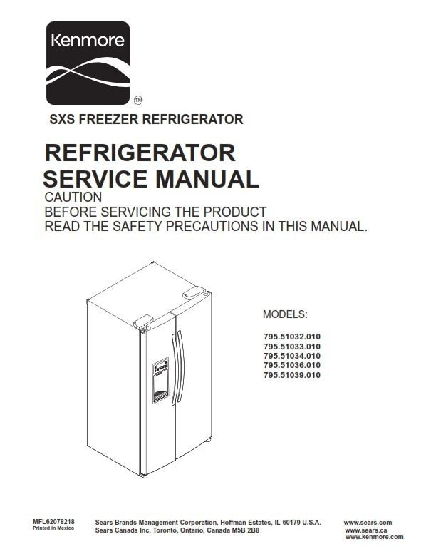kenmore 795 51032 51033 51034 51036 51039 010 models original rh pinterest com service manual for kenmore elite refrigerator service manual for kenmore elite refrigerator