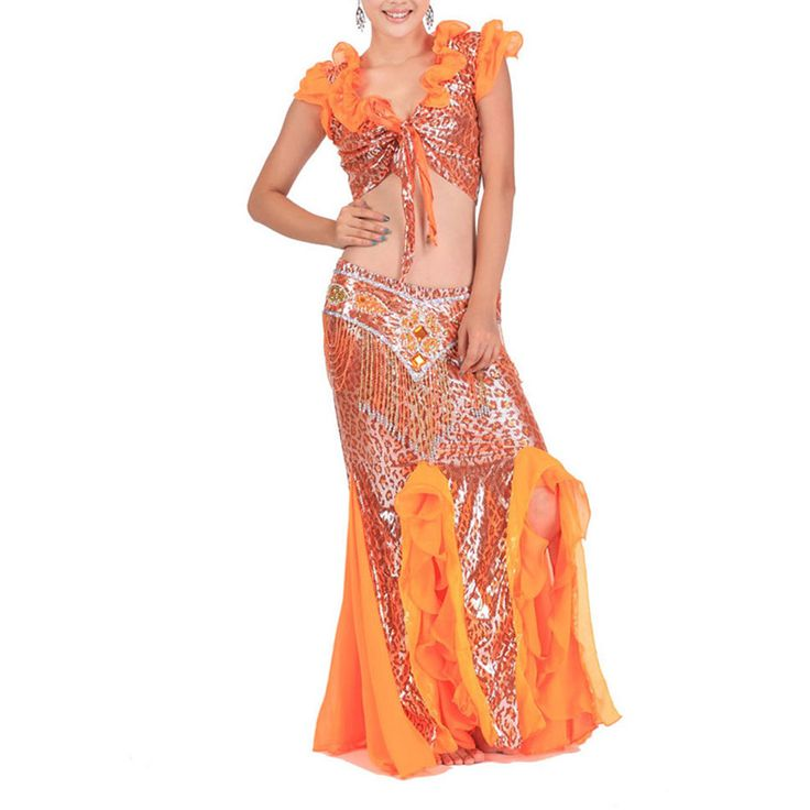 Opentip.com: BellyLady Egyptian Belly Dance Costume, Leopard Print Wrap Top, Belt and Skirt